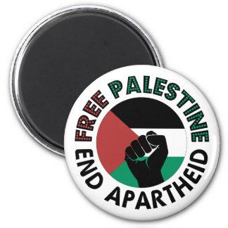 Bandeira livre de Palestina do Apartheid do fim de Ímã Redondo 5.08cm