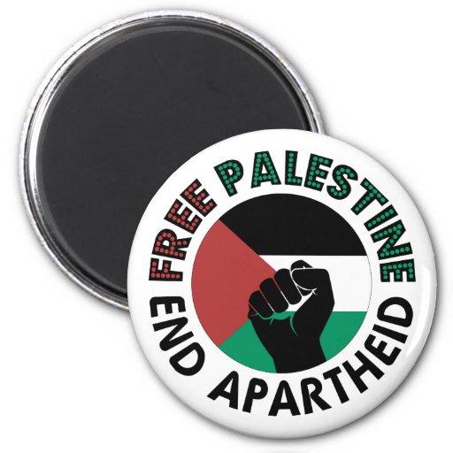 Bandeira livre de Palestina do Apartheid do fim de Imãs