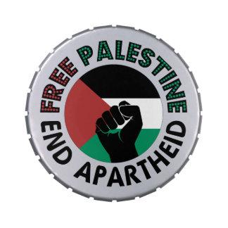 Bandeira livre de Palestina do Apartheid do fim de Latinhas De Jelly Beans