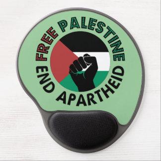 Bandeira livre de Palestina do Apartheid do fim de Mouse Pad Em Gel