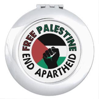Bandeira livre de Palestina do Apartheid do fim de Espelho De Maquiagem