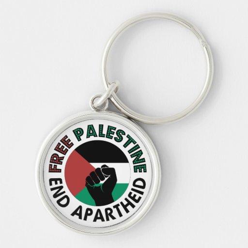 Bandeira livre de Palestina do Apartheid do fim de Chaveiros