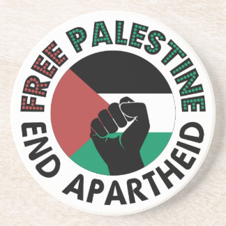 Bandeira livre de Palestina do Apartheid do fim de Porta Copo Para Bebidas