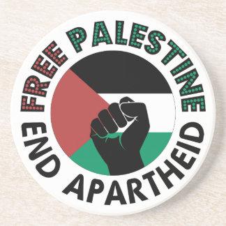 Bandeira livre de Palestina do Apartheid do fim de Porta Copos De Arenito