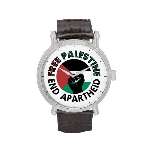 Bandeira livre de Palestina do Apartheid do fim de Relógios