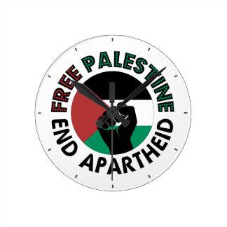 Bandeira livre de Palestina do Apartheid do fim de Relógio De Parede