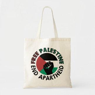 Bandeira livre de Palestina do Apartheid do fim de Sacola Tote Budget