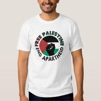 Bandeira livre de Palestina do Apartheid do fim de T-shirts