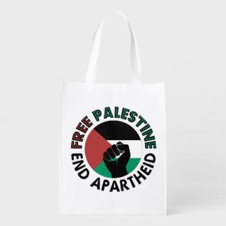 Bandeira livre de Palestina do Apartheid do fim de Sacolas Ecológicas Para Supermercado