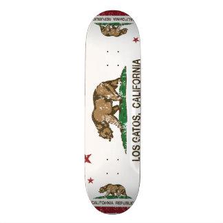 Bandeira Los Gatos do estado de Califórnia Shape De Skate 18,1cm