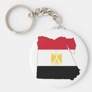 Bandeira/mapa de Egipto Chaveiro
