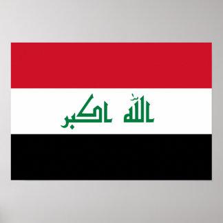 Bandeira nacional atual de Iraque Poster