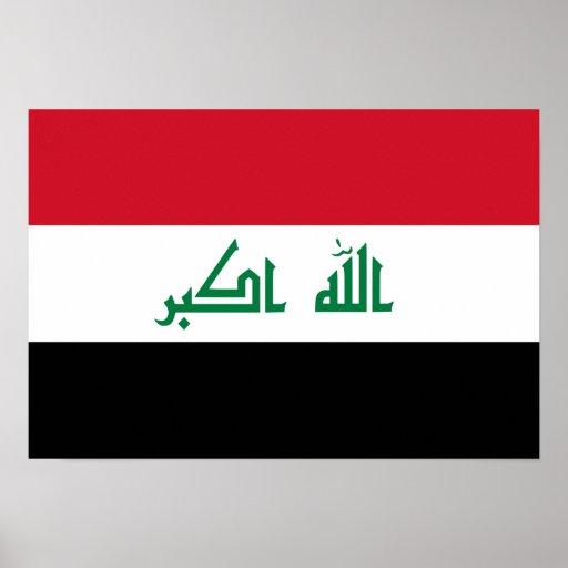 Bandeira nacional atual de Iraque Impressão