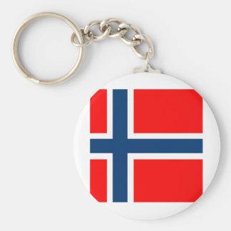 Bandeira nacional de Noruega Chaveiro