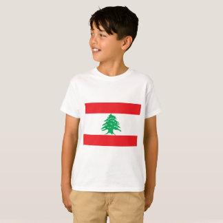 Bandeira nacional do mundo de Líbano Camisetas