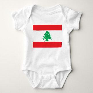 Bandeira nacional do mundo de Líbano Tshirts
