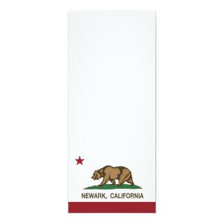"""Bandeira Newark do estado de Califórnia Convite 10.16"""" X 23.49cm"""