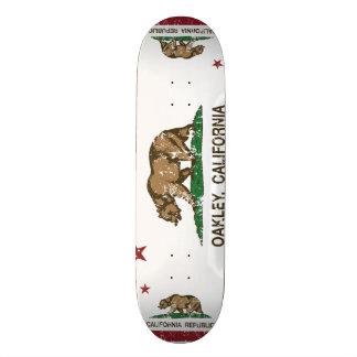 Bandeira Oakley do estado de Califórnia Shape De Skate 19,7cm