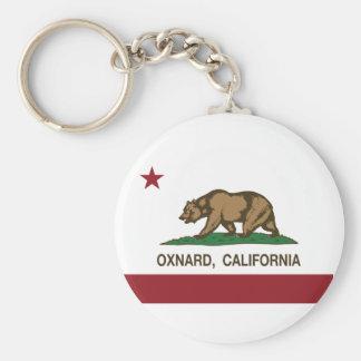 Bandeira Oxnard do estado de Califórnia Chaveiro
