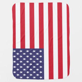 Bandeira patriótica dos Estados Unidos americanos Cobertores Para Bebe