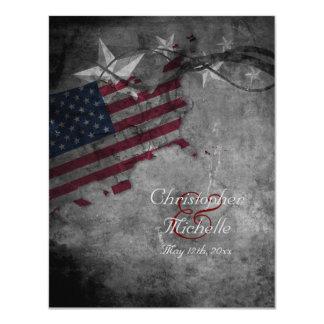 Bandeira patriótica dos Estados Unidos, convite de