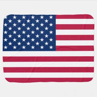 Bandeira patriótica dos Estados Unidos da América Mantas De Bebe