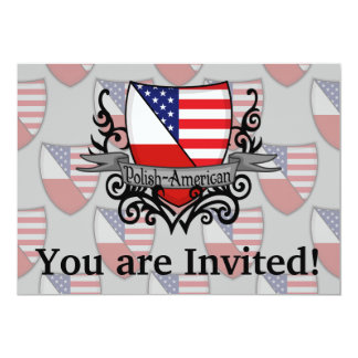 Bandeira Polimento-Americana do protetor Convite 12.7 X 17.78cm