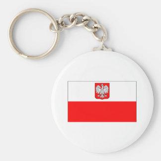 Bandeira polonesa com Eagle Chaveiro