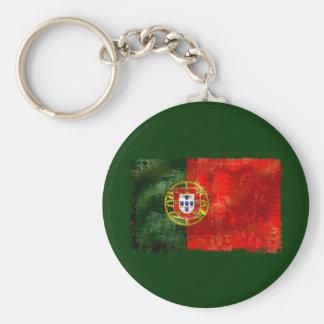 Bandeira Portuguesa - Estilo retro Chaveiro