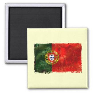 Bandeira Portuguesa - Estilo retro Ímã Quadrado