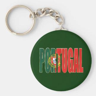 """Bandeira Portuguesa - por Fãs de """"Portugal"""" da mar Chaveiro"""