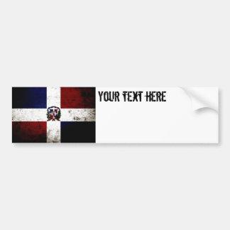 Bandeira preta da República Dominicana do Grunge Adesivo Para Carro