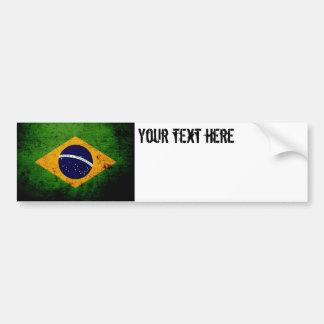 Bandeira preta de Brasil do Grunge Adesivo Para Carro