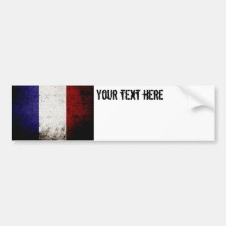 Bandeira preta de France do Grunge Adesivo Para Carro