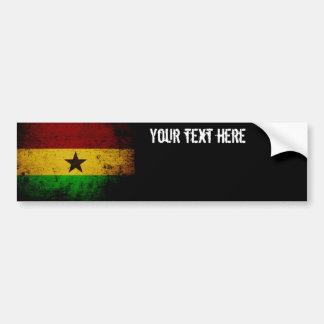 Bandeira preta de Ghana do Grunge Adesivo Para Carro