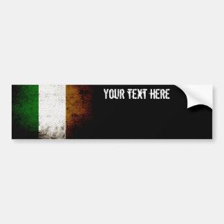 Bandeira preta de Ireland do Grunge Adesivo Para Carro