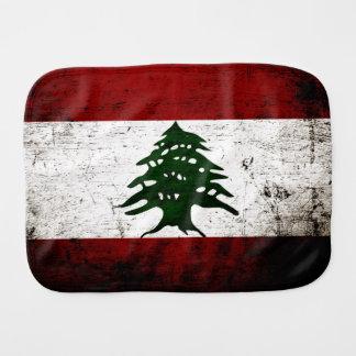 Bandeira preta de Líbano do Grunge Paninho De Boca