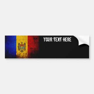 Bandeira preta de Moldova do Grunge Adesivo Para Carro
