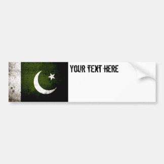 Bandeira preta de Paquistão do Grunge Adesivo Para Carro