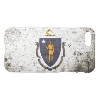 Bandeira preta do estado de Massachusetts do Capa iPhone 7