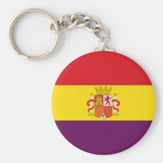 Bandeira republicana espanhola - bandera República Chaveiro