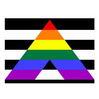 Bandeira reta do aliado cartão postal