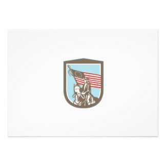 Bandeira revolucionária americana do cavalo do convites