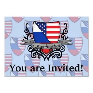 Bandeira Russo-Americana do protetor Convite 12.7 X 17.78cm