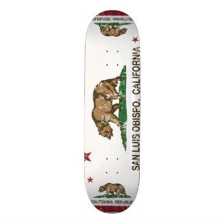Bandeira San Luis Obispo do estado de Califórnia Shape De Skate 18,7cm