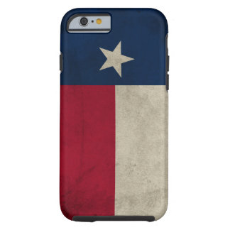 Bandeira solitária da estrela do grunge de Texas Capa Tough Para iPhone 6
