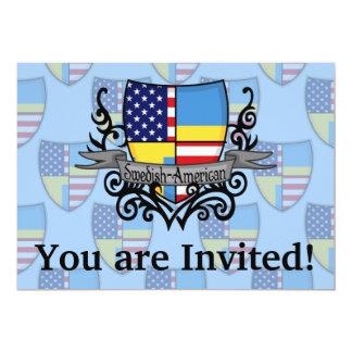 Bandeira Sueco-Americana do protetor Convite 12.7 X 17.78cm