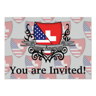 Bandeira Suíço-Americana do protetor Convite 12.7 X 17.78cm