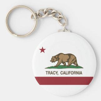 Bandeira Tracy do estado de Califórnia Chaveiros