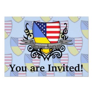 Bandeira Ucraniano-Americana do protetor Convite 12.7 X 17.78cm